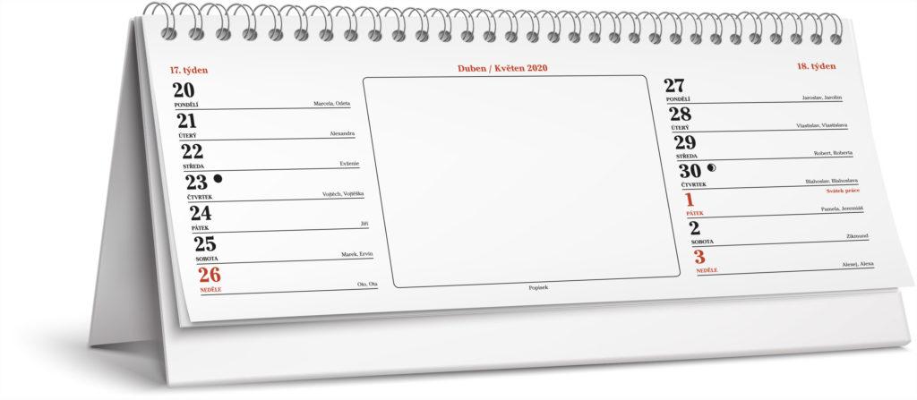 Tiskárna AKORD Chomutov - stolní dvoutýdenní kalendář vzor