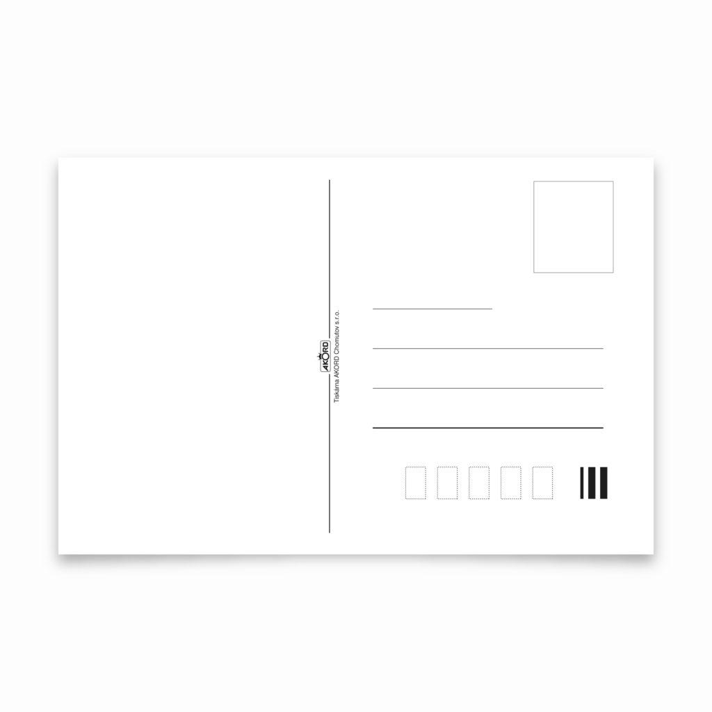 Tiskárna AKORD Chomutov - pohlednice