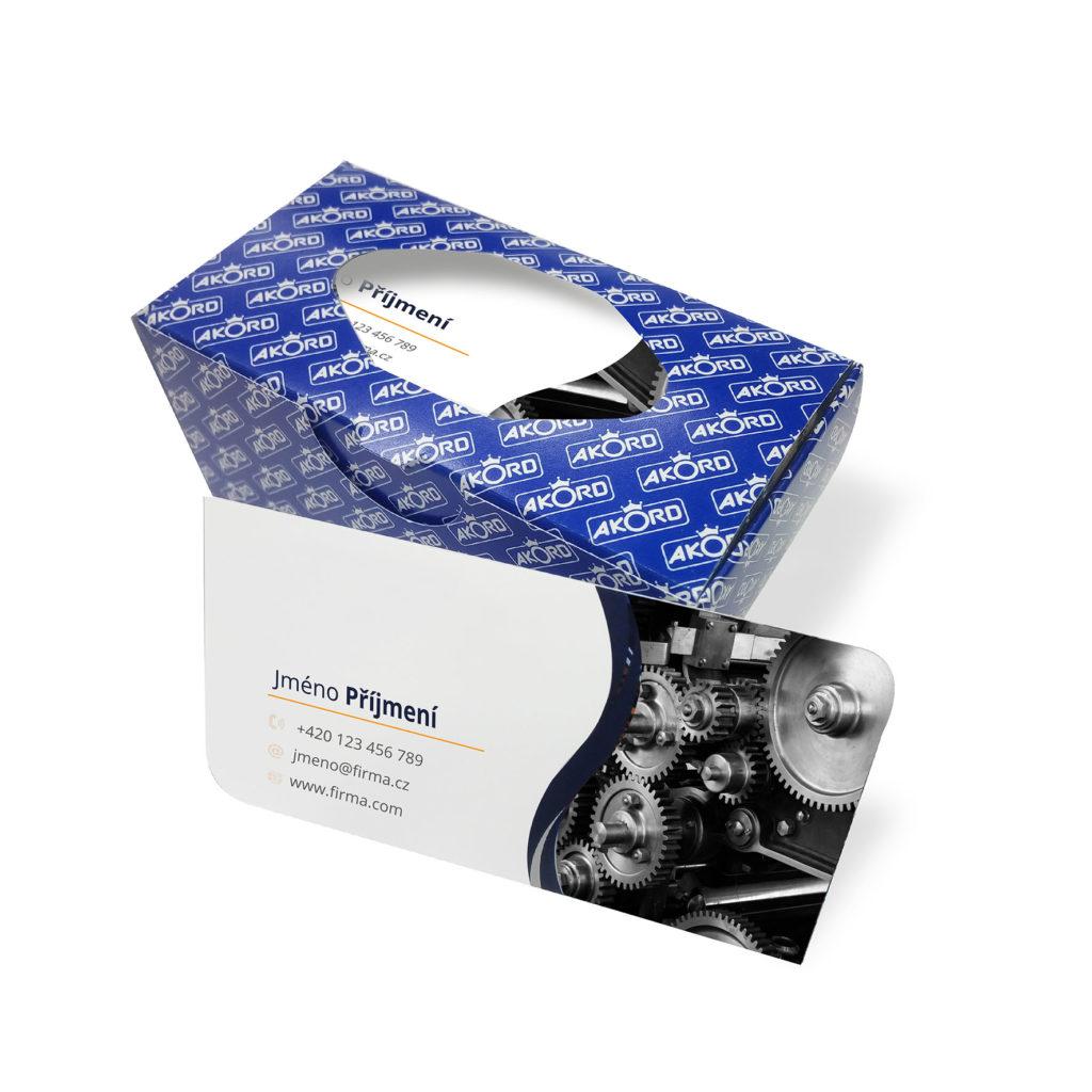 Tiskárna AKORD Chomutov - vizitky s krabičkou